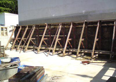 Einseitige Kellerwandschalung