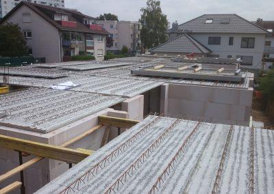 Filigranplattenverlegung 9-Familien-Haus in Eppelheim