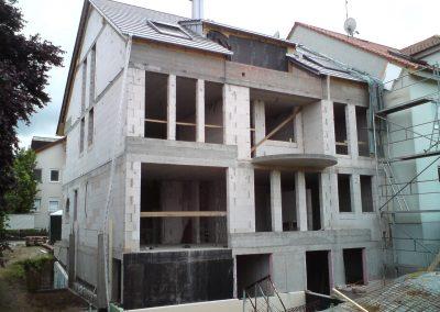Neubau 3-Familienhaus Hirschberg-Leutershausen Gartenansicht