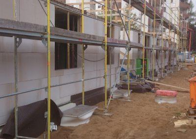 Rohbauansicht Erdgeschoß 9-Familien-Haus in Eppelheim