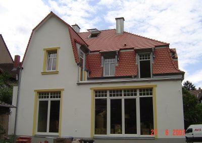 Sanierung Villa Heidelberg Gartenansicht