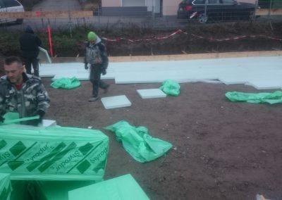 Verlegung Dämmlage unter einer Bodenplatte