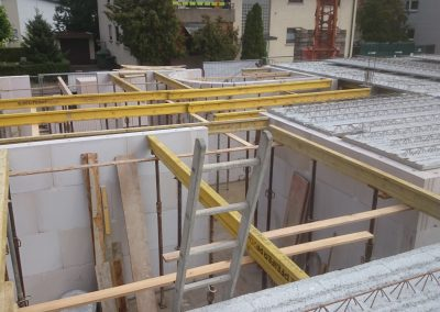 Verlegung Filigrandeckenplatten 9-Familien-Haus in Eppelheim